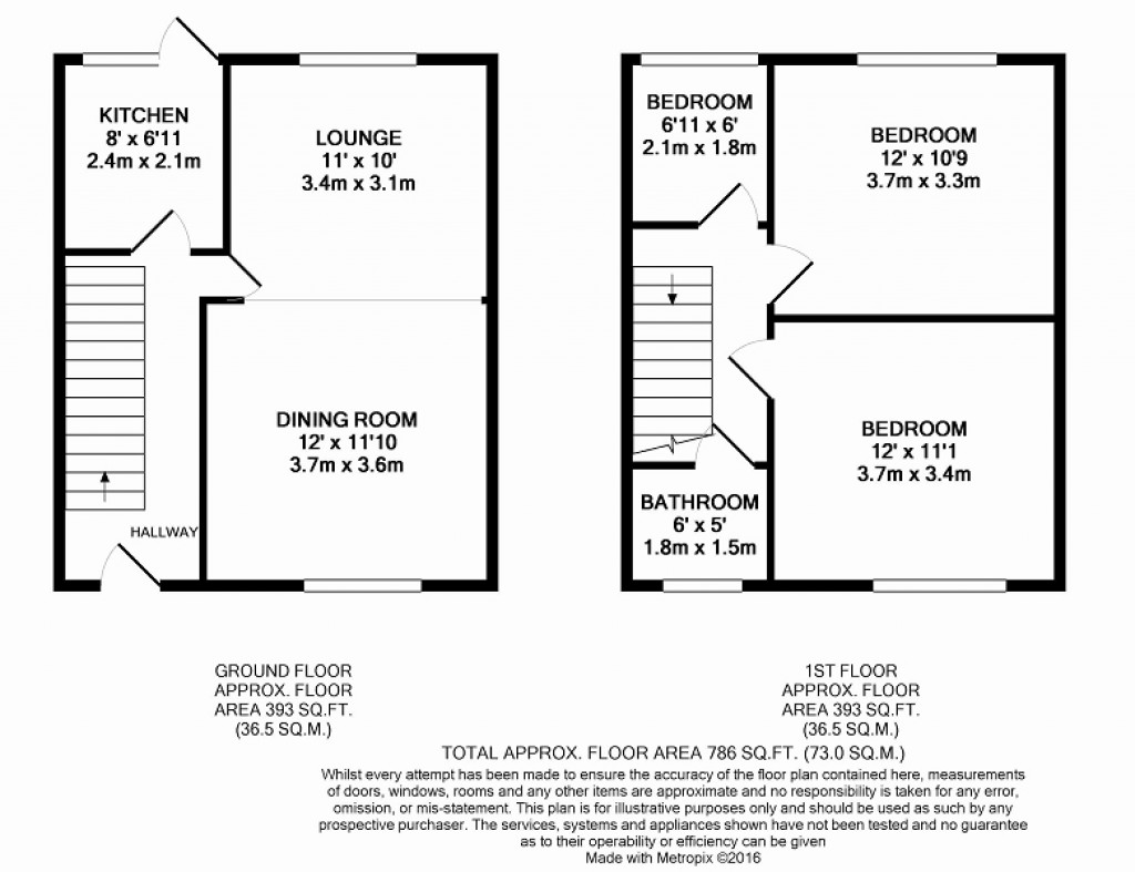 Floorplans For Crown Road, Portslade, Brighton, East Sussex. BN41 1SH