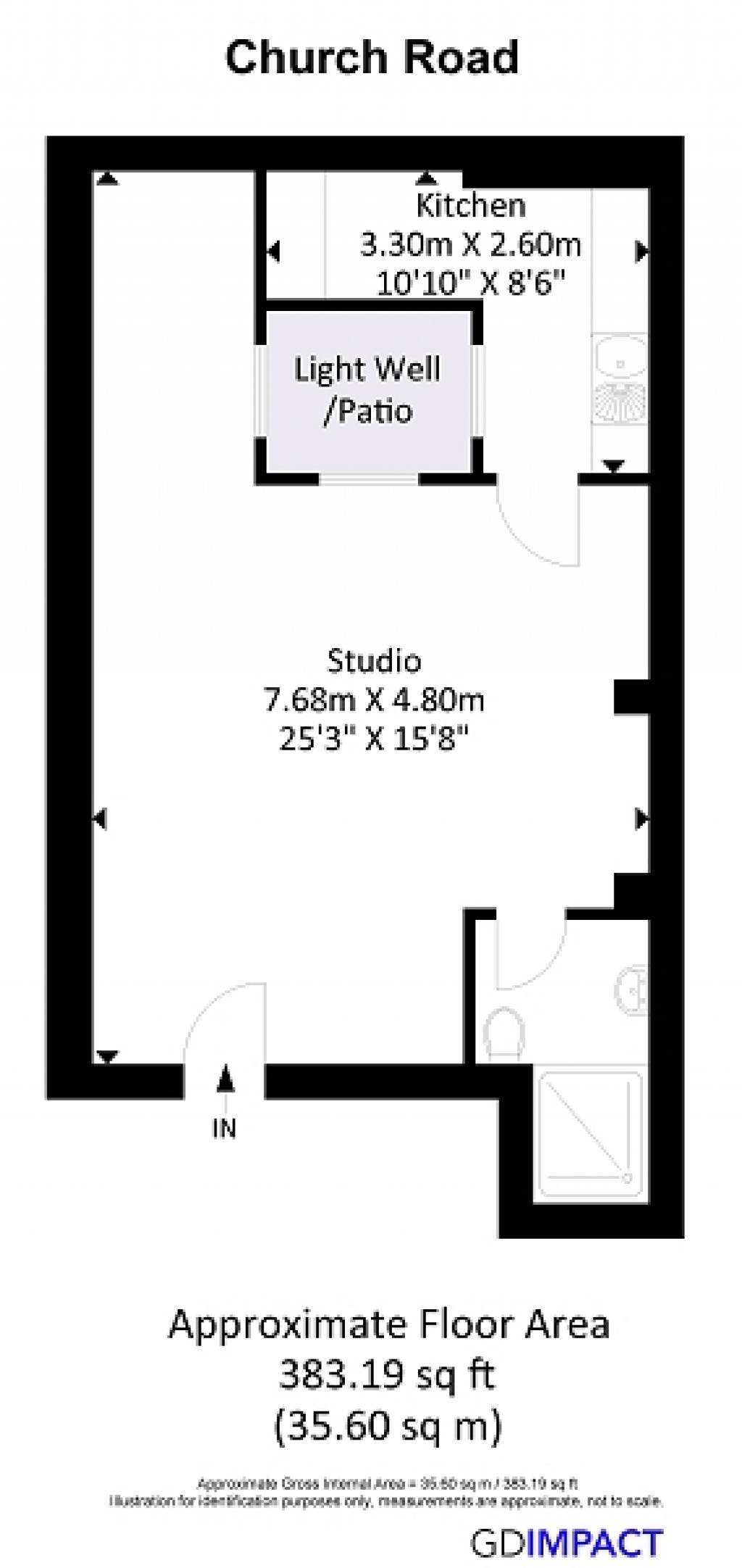 Floorplans For Church Road, Hove, BN3