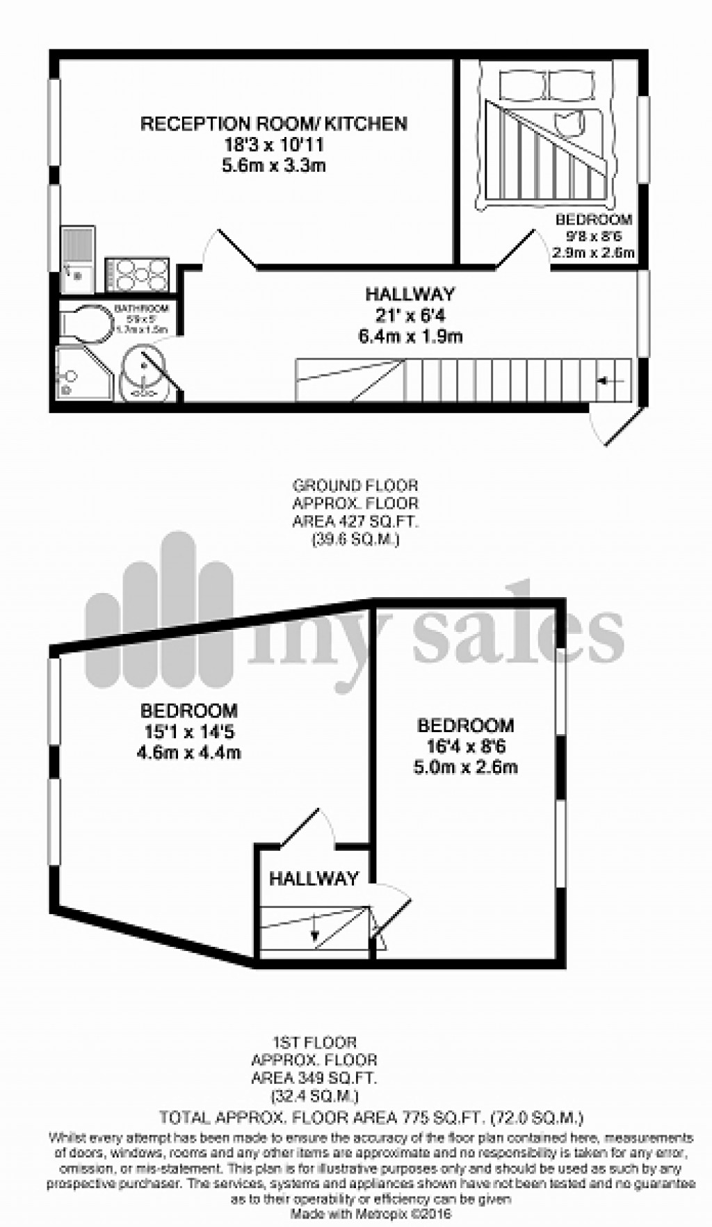 Floorplans For Westbourne Street, Hove, East Sussex. BN3