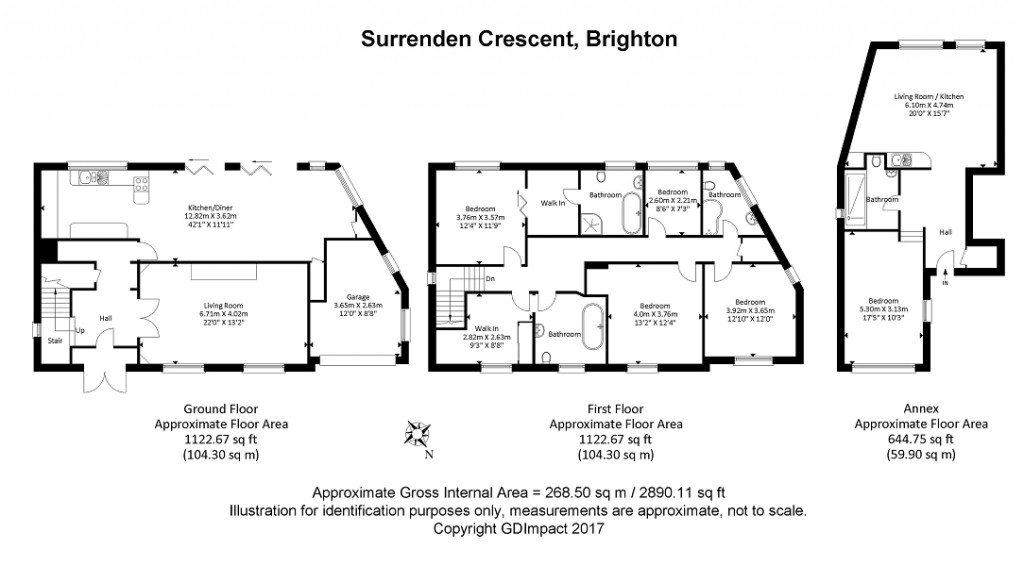 Floorplans For Surrenden Crescent, Brighton, BN1