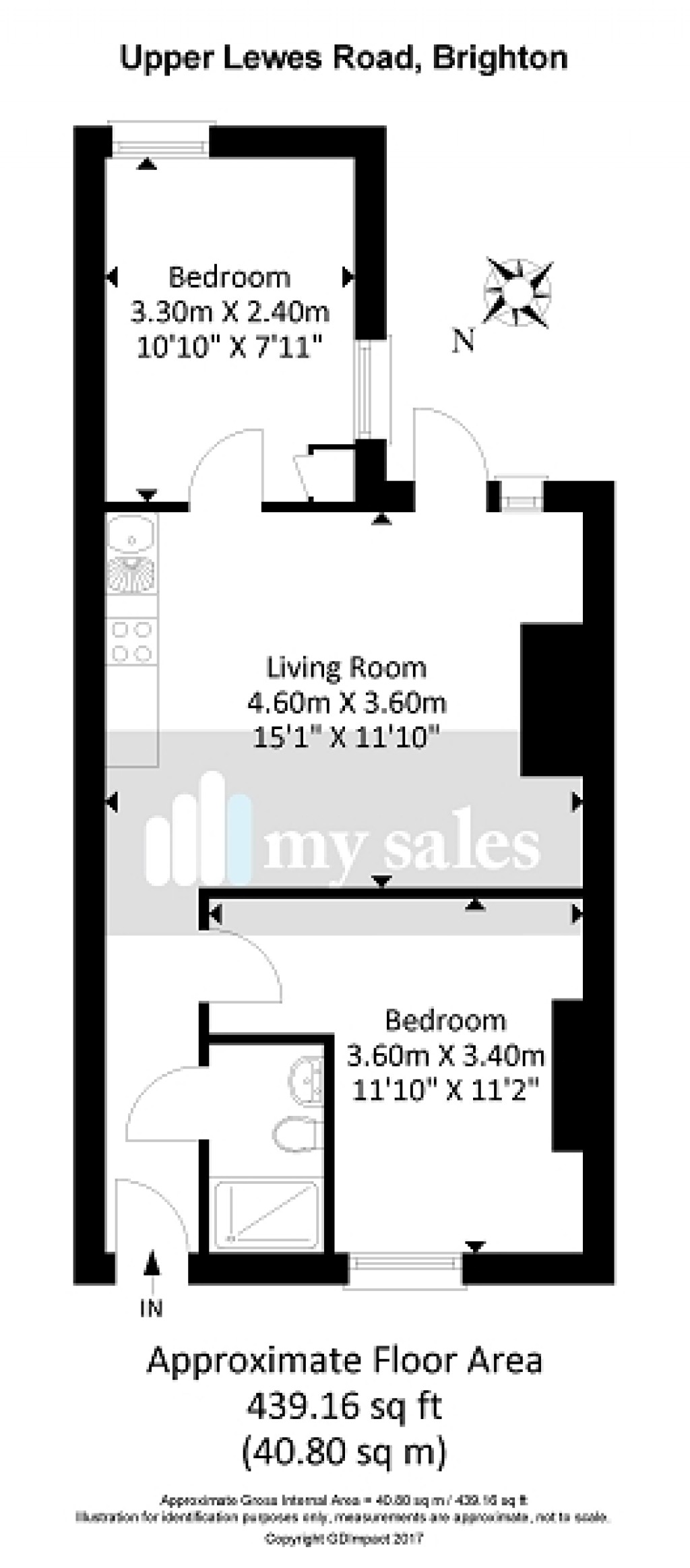 Floorplans For Upper Lewes Road, Brighton, East Sussex. BN2 3FD