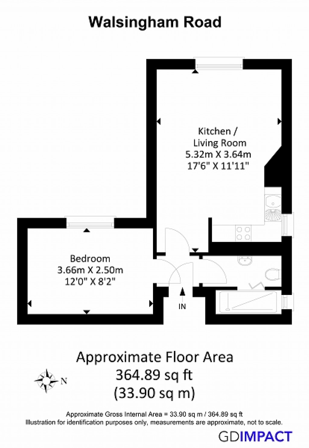 Floorplans For Walsingham Road, Hove, BN3