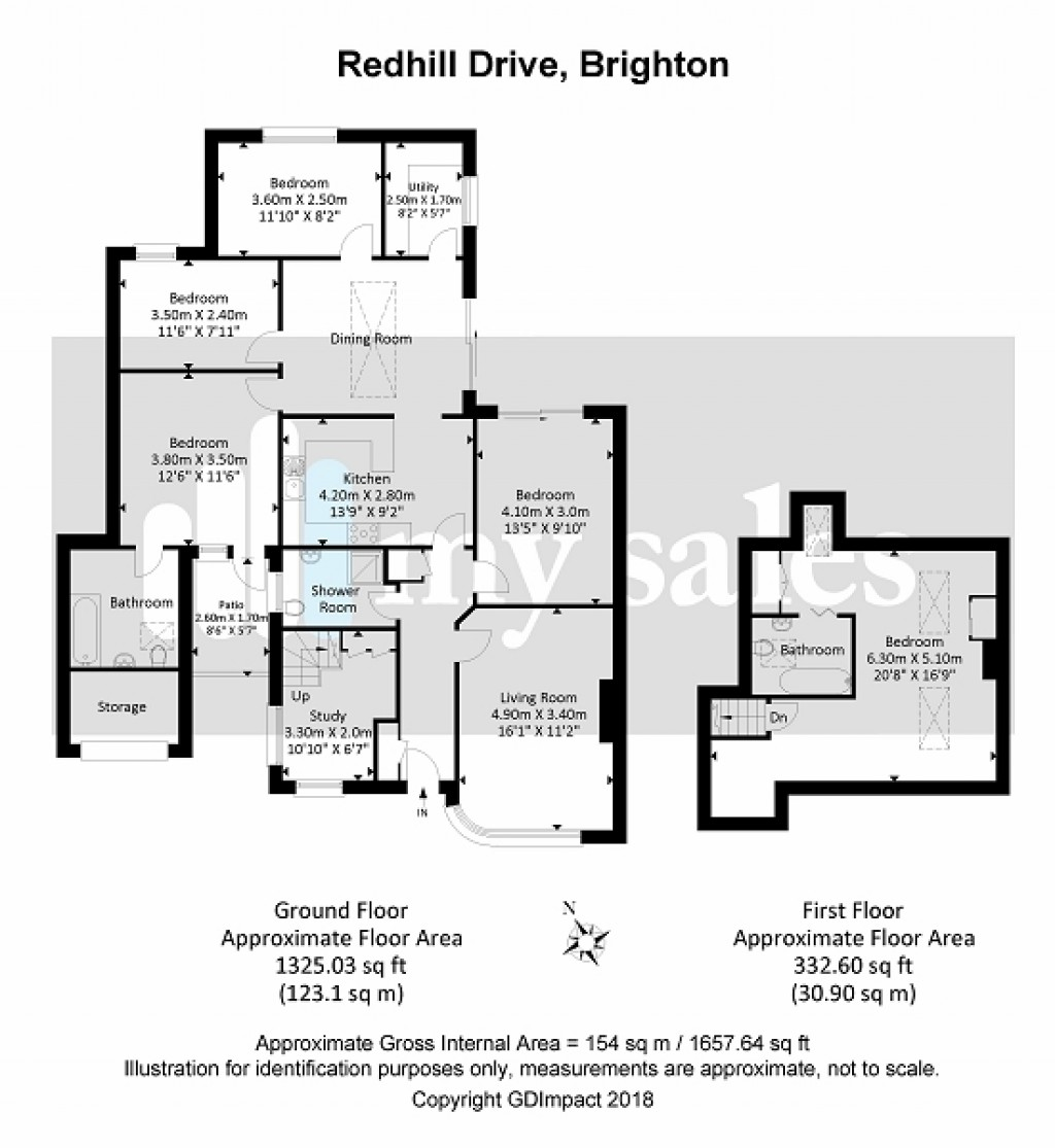 Floorplans For Redhill Drive, Brighton, BN1