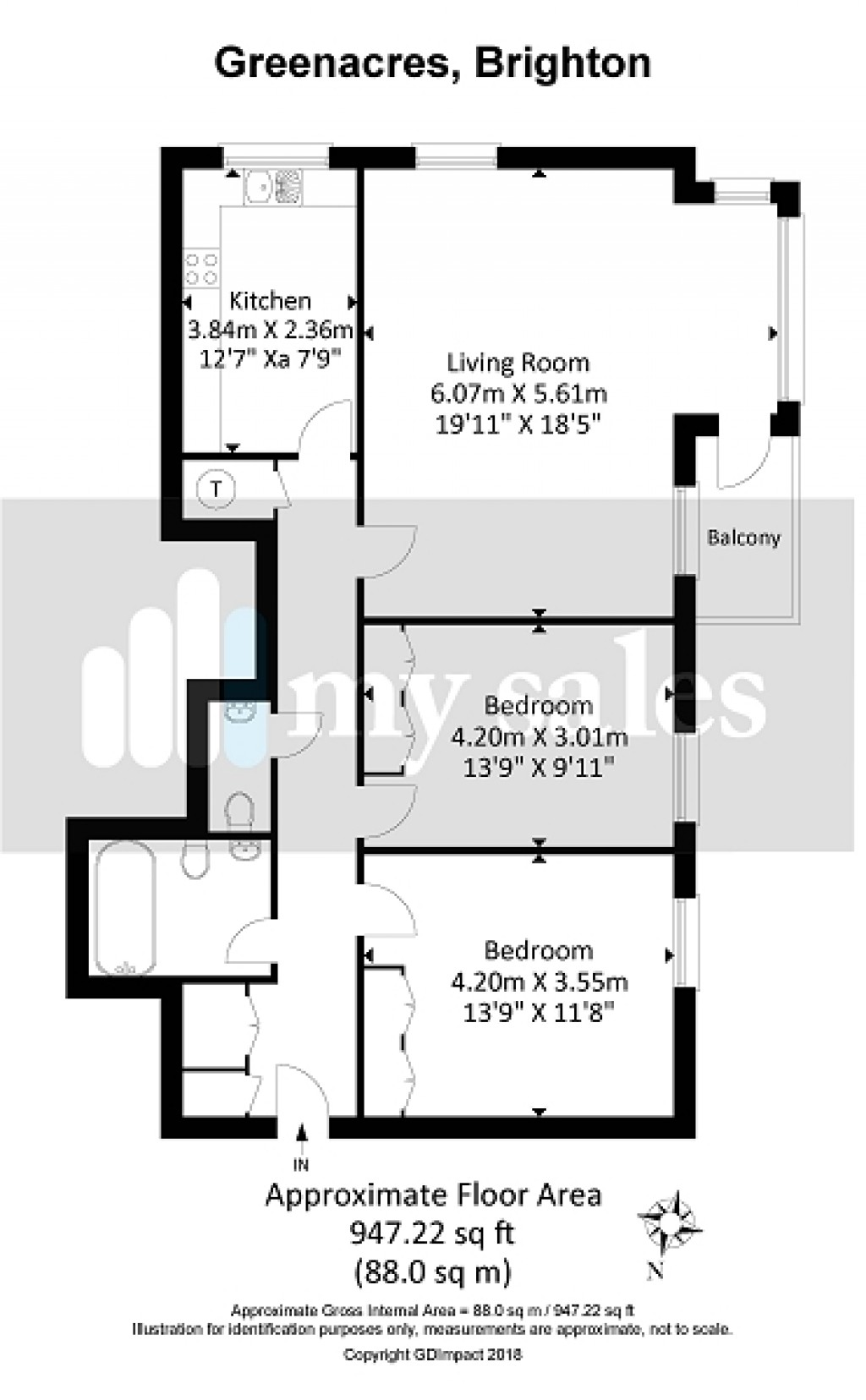 Floorplans For Greenacres , Preston Park Avenue, Brighton, East Sussex. BN1 6HR