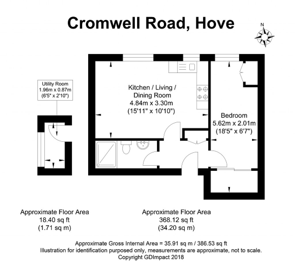Floorplans For Cromwell Road, Hove, East Sussex. BN3 3EE