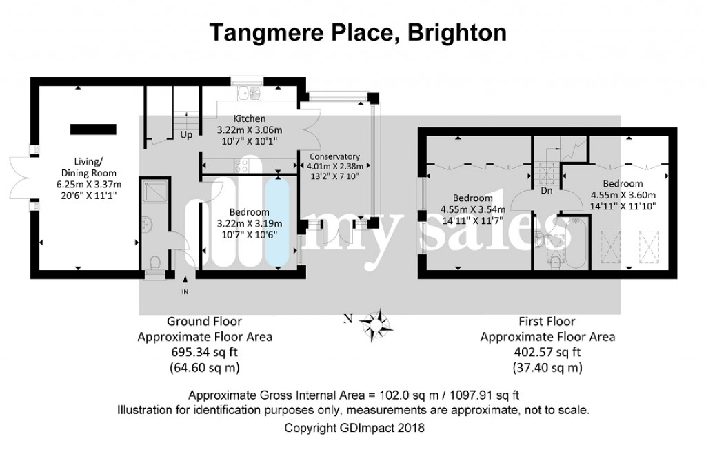 Floorplans For Tangmere Place, Tangmere Road, Brighton, East Sussex.