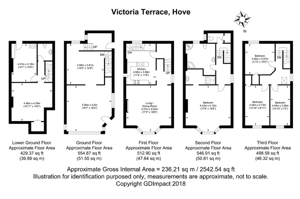 Floorplans For Victoria Terrace, Hove, East Sussex. BN3 2WB