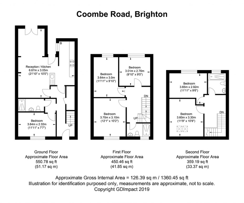 Floorplans For Coombe Road, Brighton, East Sussex. BN2 4ED