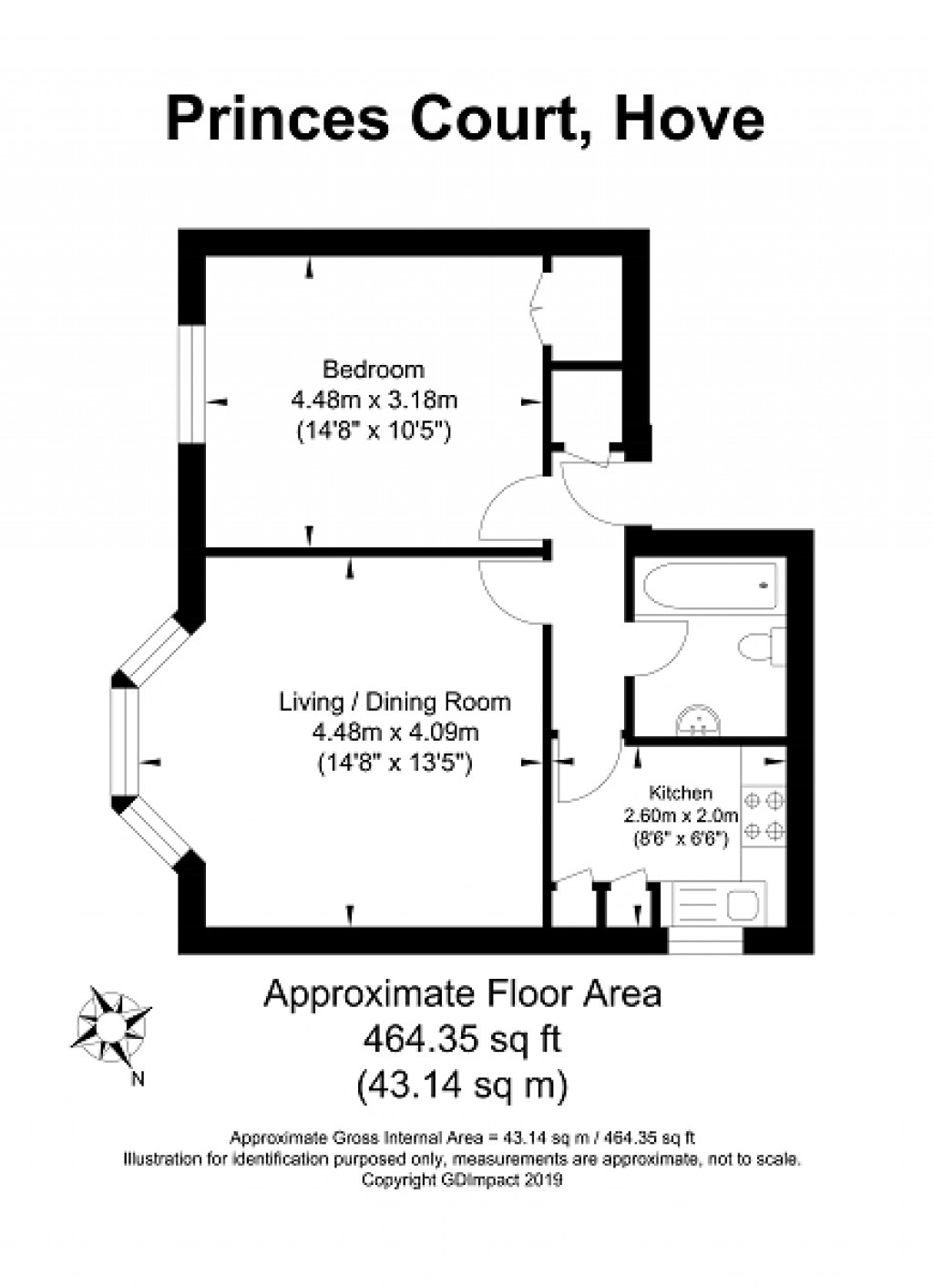 Floorplans For First Avenue, Hove, East Sussex. BN3