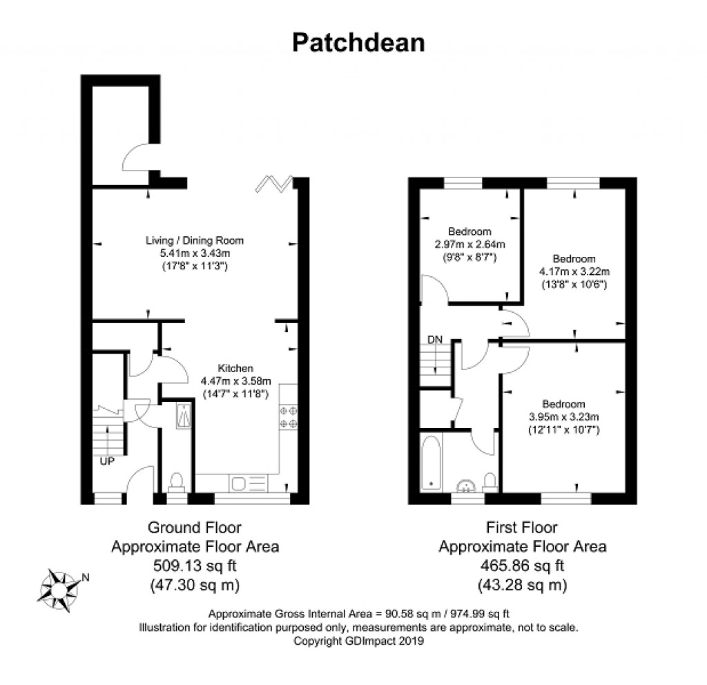 Floorplans For Patchdean, Brighton, East Sussex. BN1