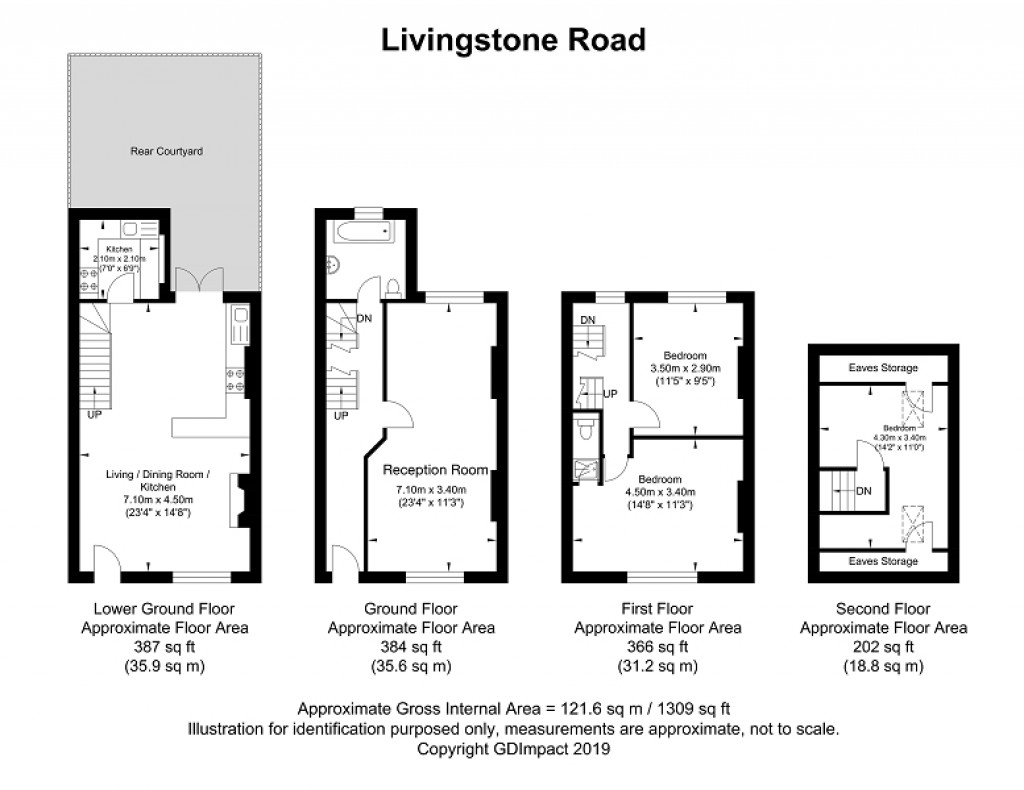 Floorplans For Livingstone Road, Hove, East Sussex. BN3