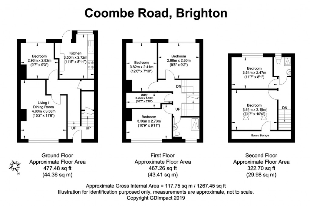 Floorplans For Coombe Road, Brighton, East Sussex. BN2