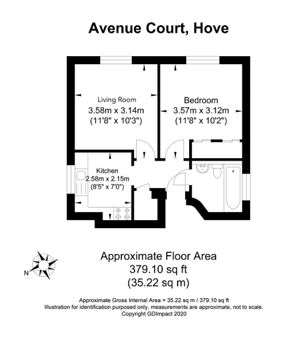 Floorplans For Palmeira Avenue, Hove, East Sussex. BN3