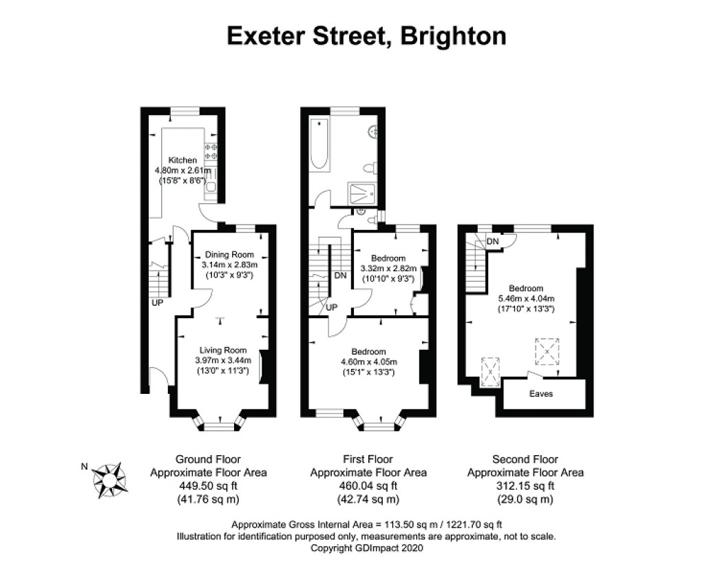 Floorplans For Exeter Street, Brighton, East Sussex. BN1