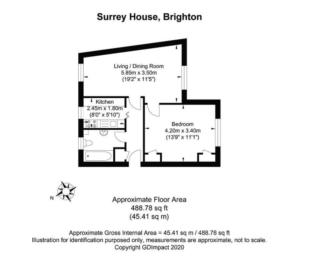 Floorplans For Eaton Place, Brighton, East Sussex. BN2