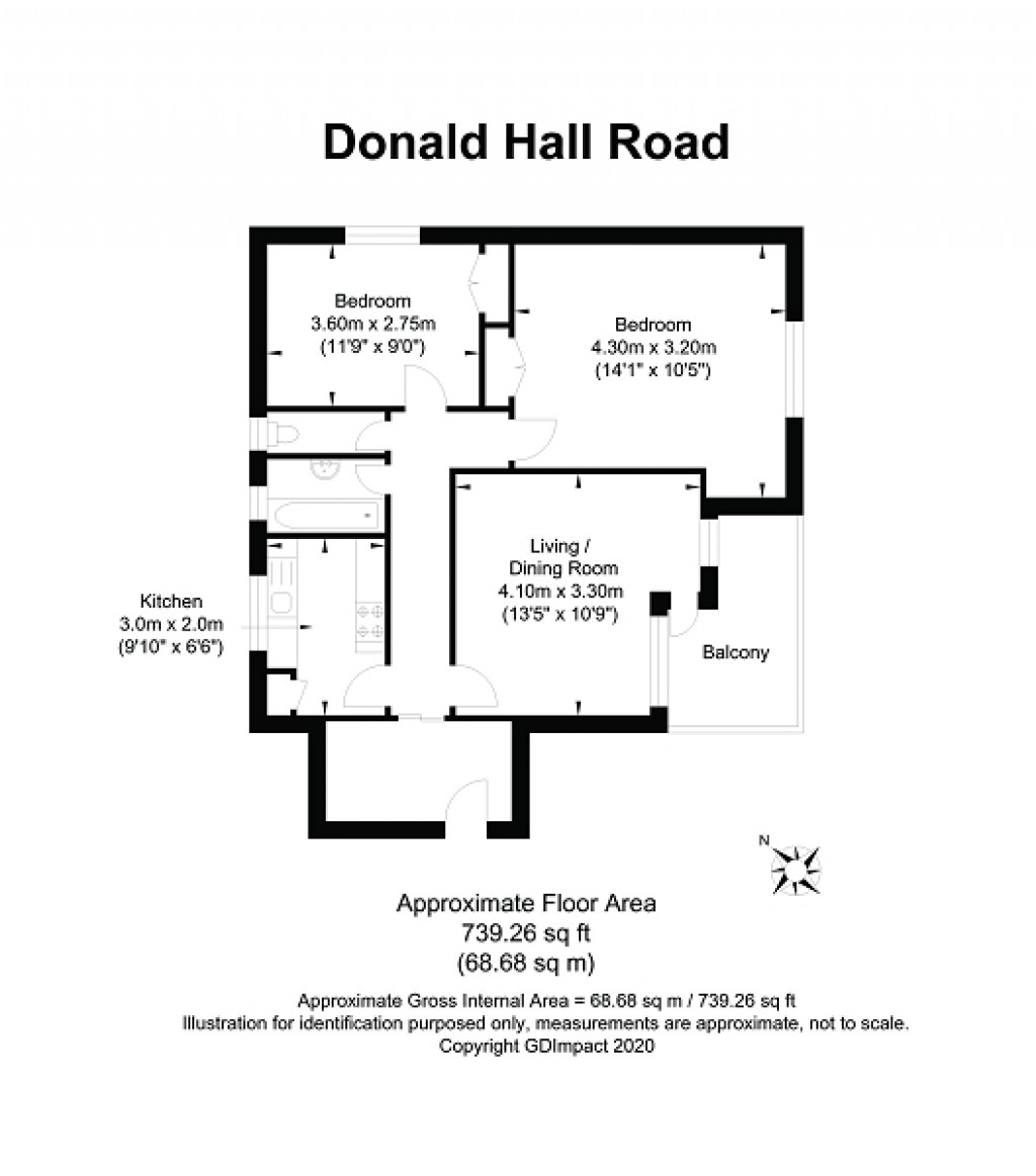 Floorplans For Donald Hall Road, Brighton, East Sussex. BN2